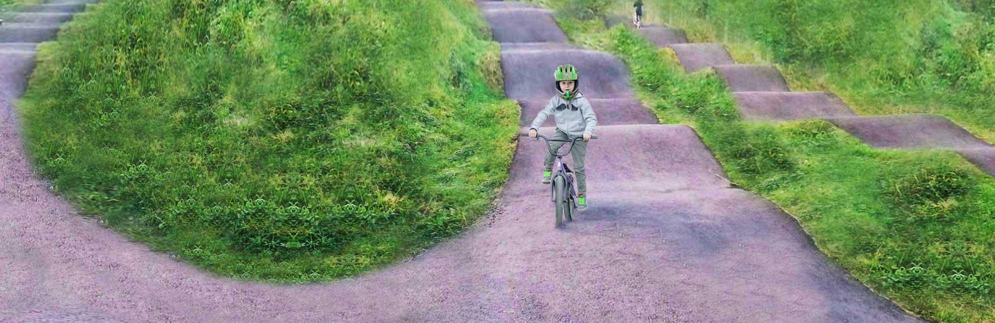 Asphalt Pumptrack Mountainbike Strecke